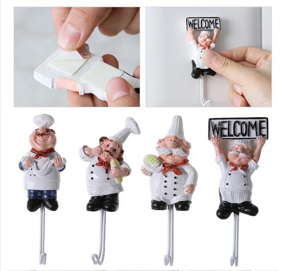 Adorno cocina bonito mini chef soporte llaves y utensilios